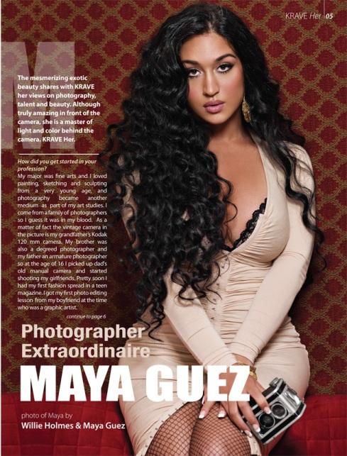 Maya Guez, KRAVE Magazine