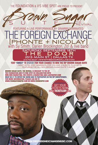 V's VibeSpot presents The Foreign Exchange in Dallas,TX