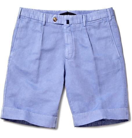 Incotex Linen Blend Chino Shorts $225