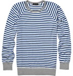 John Smedley Striped Crew Neck Sweater $245