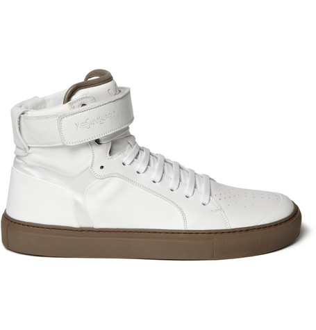 YSL Leather High Top Sneaker $595