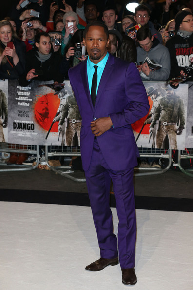 Jamie Foxx's Purple Suit