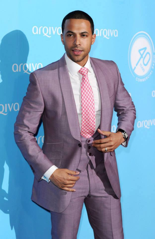 Marvin Humes in Marc Wallace Menswear